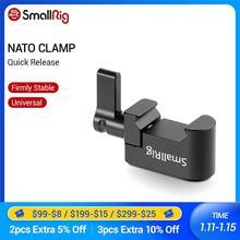 """SmallRig Nato Clamp Quick Release Clamp mit 1/4 """"3/8"""" M2.5 Gewinde für Kalten Schuh Monitor Unterstützung Ball Kopf  1973"""