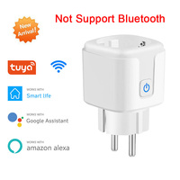 Smart Plug WiFi e Bluetooth presa di accoppiamento EU 16A Power Monitor funzione di temporizzazione Tuya SmartLife APP Control funziona con Alexa Google