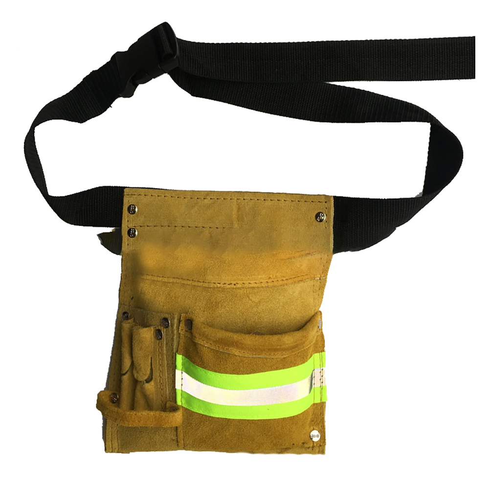 Reflective Multi Pocket Toolkit Hardware Screwdriver Electric Welding Tool Bags With Belt Cowhide Wear Resistant Waist Bag