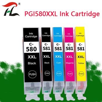 5PK Cartuccia di Inchiostro Compatibile PGI580 CLI 581 XXL per Canon Pixma TR7550 TR8550 TS6150 TS6151 TS8150 TS8151 TS8152 TS9150 TS9155 Printing supplies Store