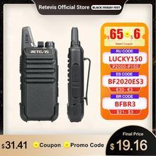 Retevis Mini telsiz RT622 PMR radyo PMR446 FRS UHF Walkie Talkie 2 adet iki yönlü telsiz portatif radyo avcılık için iş