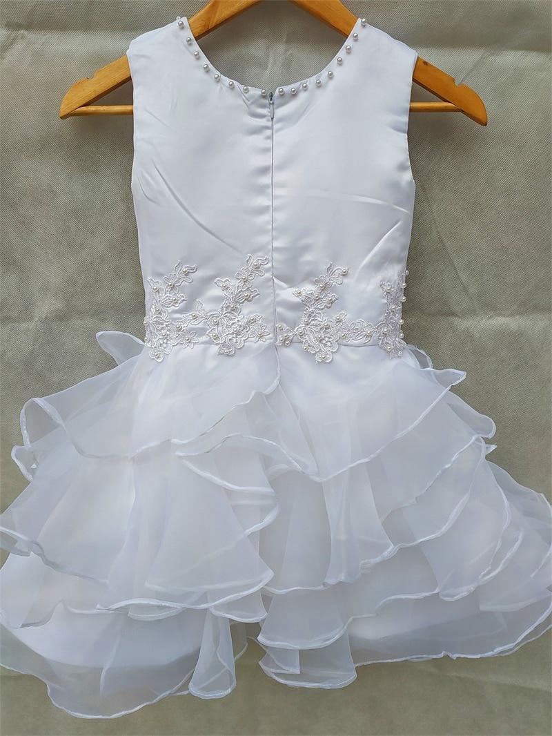 New Princess Flower Girl Dresses Satin Little Girls Kids/Child Dress for Wedding Lovely Birthday Communion Party Pageant Dress