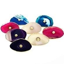 Агат камень декоративный кухонный шкаф ручки многоцветные дверные ручки шкаф ящик комод Pull-1Pack