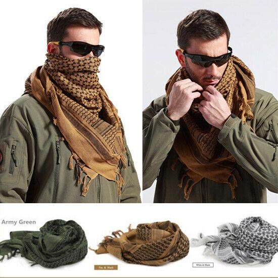 Cotton Lightweight Military Arab Tactical Desert Army Shemagh Keffiyeh Headscarf