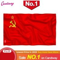 العلم الأحمر CCCP 90x150 مللي متر اتحاد الجمهوريات الاشتراكية السوفياتية 3x5 قدم سوبر بولي داخلي/خارجي الاتحاد السوفياتي العلم بلد راية الروسية