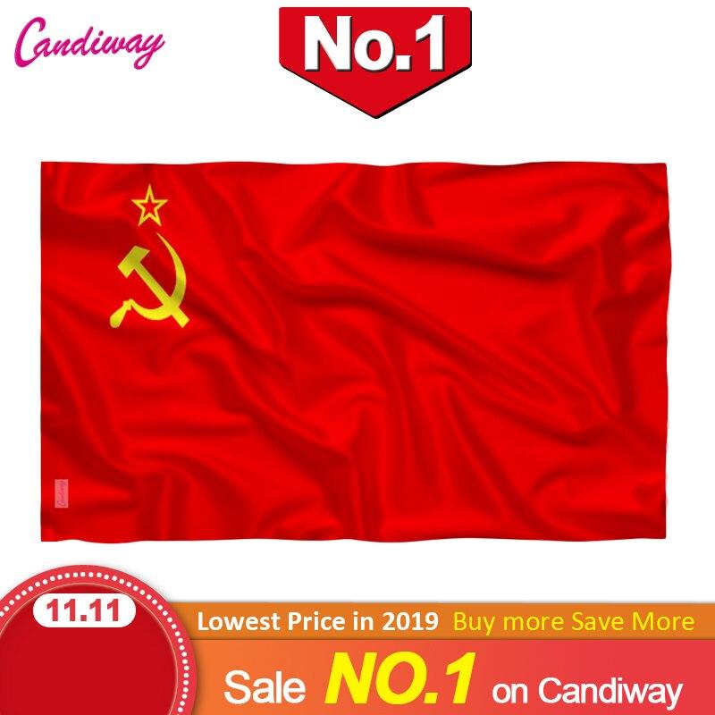 Красный флаг СССР 90x150 см партия Советского Союза Социалистических Республик 3x5