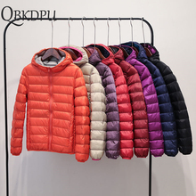 Ultra Light Double-side Autumn Parkas Women Hooded Duck Down Coats New Winter Sl