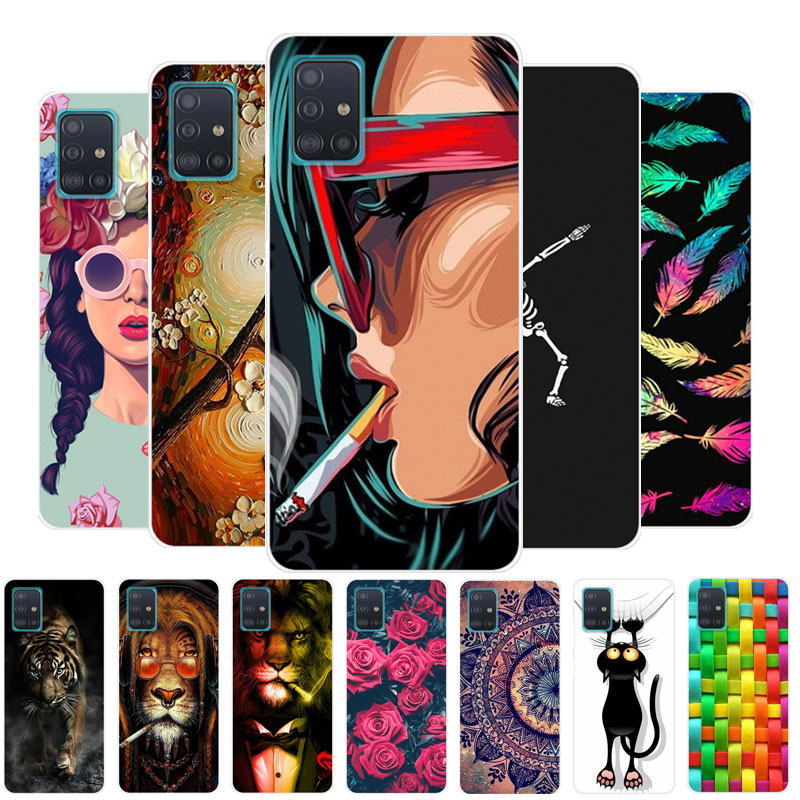 Case For Samsung A51 Phone Case Silicone Soft TPU Back Cover For Samsung Galaxy A51 A71 A21S Case S20 Plus Ultra A 51 Coque