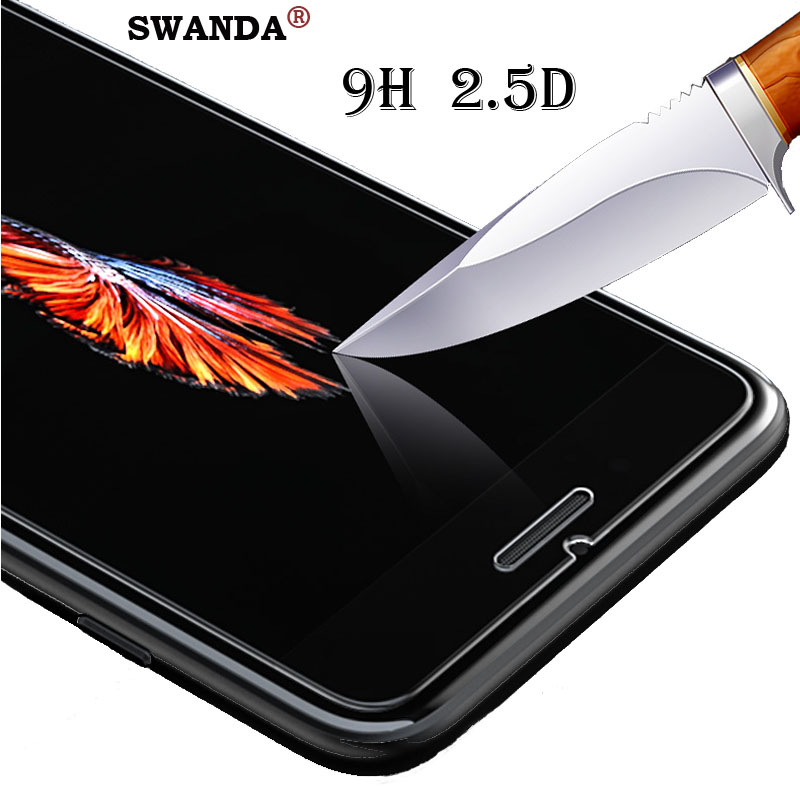9H Tempered Glass For IPhone 6 6S Screen Protector For IPhone 7 Plus Glass Film For IPhone 8 Plus X XR XS SE 5S Tough Protection