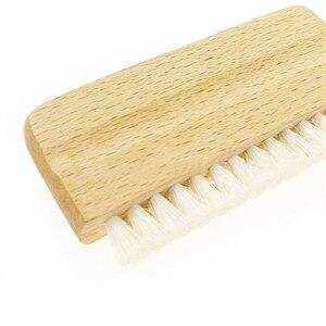 1 шт. LP виниловая чистящая щетка, Антистатическая щетка с деревянной ручкой из козьей шерсти