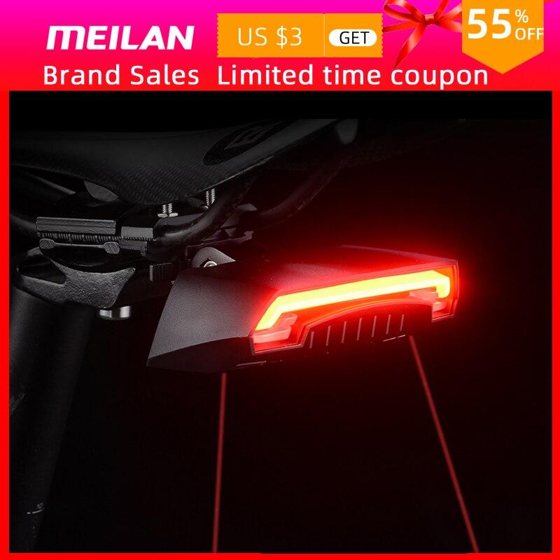 Luz de freno de bicicleta inalámbrica Meilan X5 versión Flash trasero de seguridad giro bicicleta Control remoto inalámbrico luz láser de giro