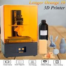 Laranja 10 lcd impressora 3d acessível sla impressora 3d corpo de metal matrixs led design rápido refrigeração alta precisão resina impressora
