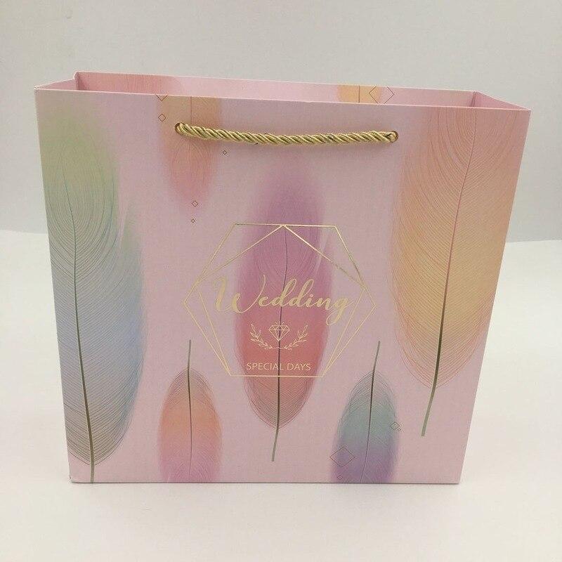 Bonbons papier emballage boîte cadeau fleur коробка упаковка sac cadeau De fête De Mariage papier sacs подарков пакетики на упаковки - 5
