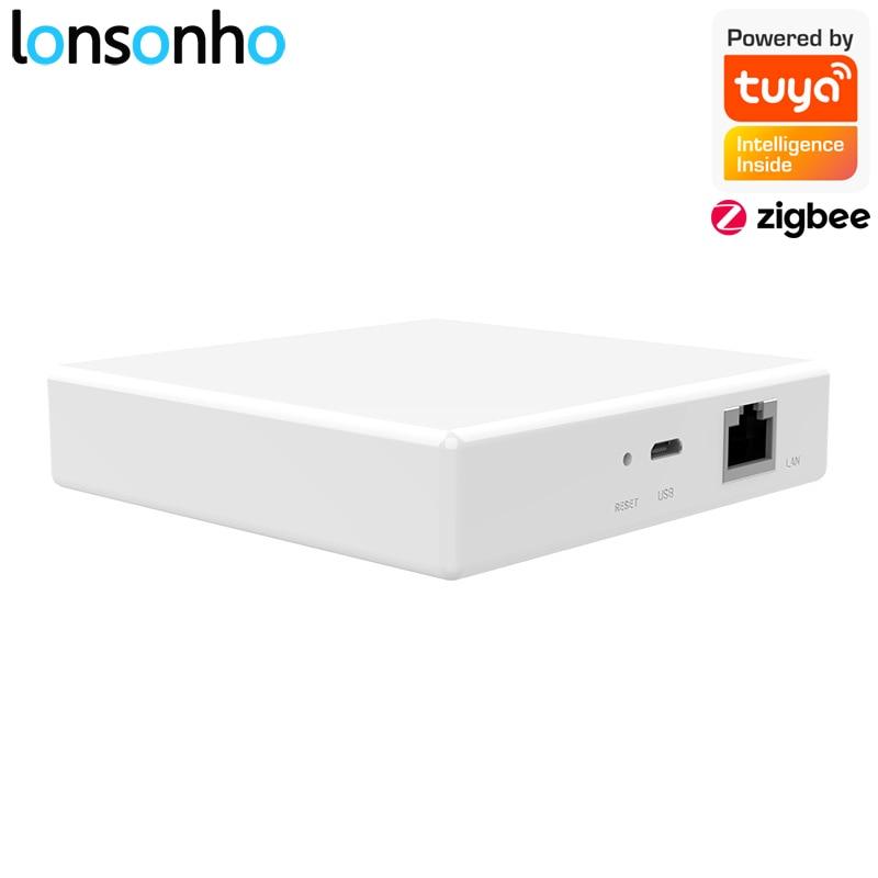 Lonsonho Tuya Smart Life Zigbee Hub Compatible With Tuya Zigbee Switch Smart Home Automation Modules