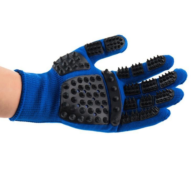 Pet Glove Cat Grooming Glove Cat Hair Deshedding Brush Gloves Dog Comb For Cats Bath Clean Massage Hair Remover brushes Gentle 2
