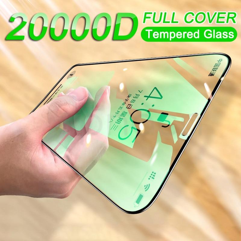 20000d proteção de vidro para iphone 6s 7 8 plus xr x xs vidro capa completa iphone 11 12 pro max protetor de tela vidro temperado