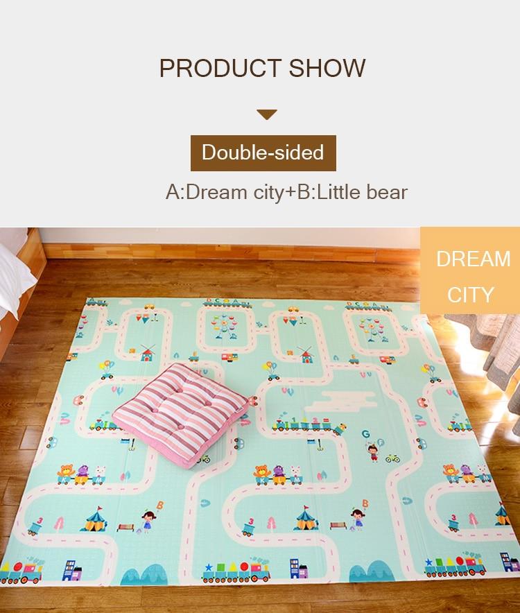 H022d395211724708b9141809560923d5e XPE Environmentally Friendly Thick Baby Crawling Play mat Folding Mat Carpet Play Mat For Children's Mat Kid Rug Playmat