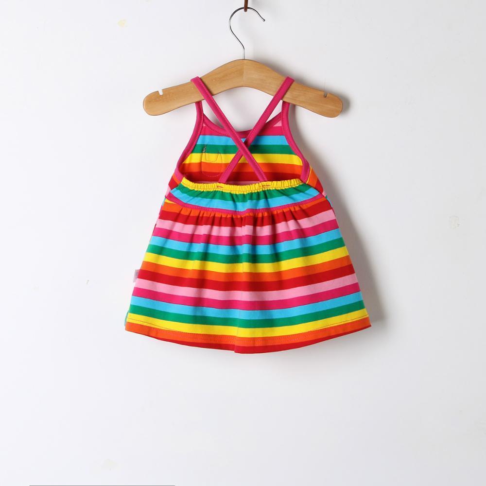 H022d403a6dcc4a9091b5c4a3c2c6f383Y Girls Dress 2018 Summer Explosion Solid Color Denim Dress Cartoon Polka Dot Bow Cartoon Bunny Satchel Korean Baby Cute Dress