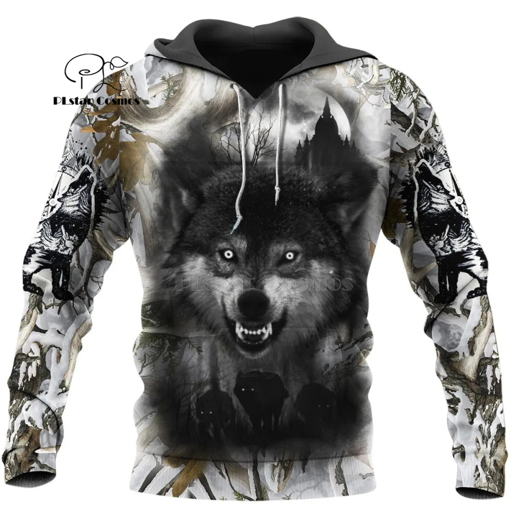 Wolf Printed Hoodies Men 3d Hoodies Brand Sweatshirts Jackets Quality Pullover Fashion Tracksuits Animal Streetwear Out Coat-11