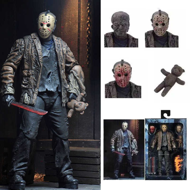 2019 Novo Tipo de Figura de Ação NECA Friday Jason Voorhees Freddy Jason FVJ Final Horror Toy Presente Modelo