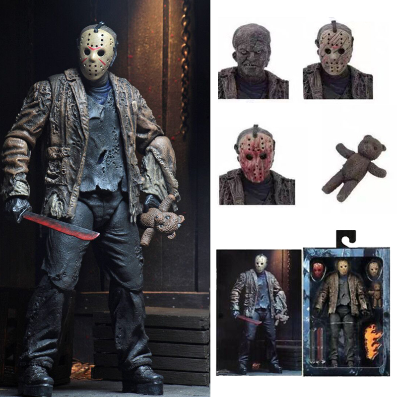 2019 New Type NECA Freddy Jason FVJ Ultimate Friday  Jason Voorhees Action Figure Toy Horror Model Gift