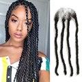 Joedir Braiding Hair Afro Kinky Remy Human Handmade Dreadlocks Hair Extensions 60 Strands Dreadlock Crochet Braids Hairstyles