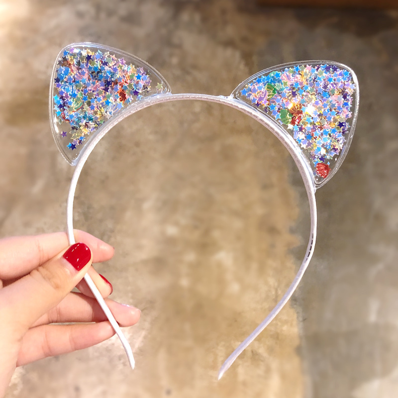 Cute Girls Cat Ear Headband Kids Hairbands Cartoon Children Princess Hair Accessories Party Halloween Xmas Gift