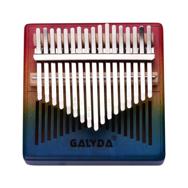 17 Key Thumb Piano Wooden Kalimba Mbira Musical Instrument with Carrying Bag Tuning Hammer Finger Protector