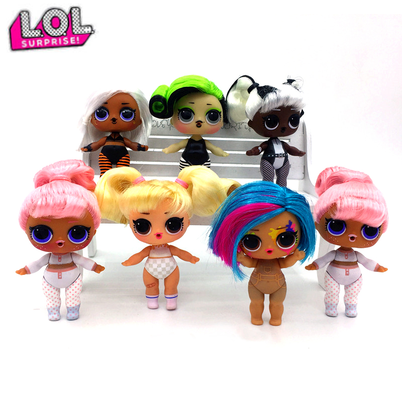 100% Genuine LOL Surprise Dolls Original Lols Surprise Dolls Hair Goals Dolls With Accessories Girl's Lol Toys Birthday Gifts