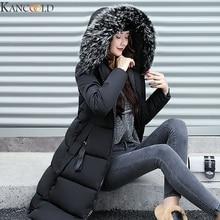KANCOOLD Winter Women Jacket Warm Hooded Parkas Large Fur Collar Embroidery Doub