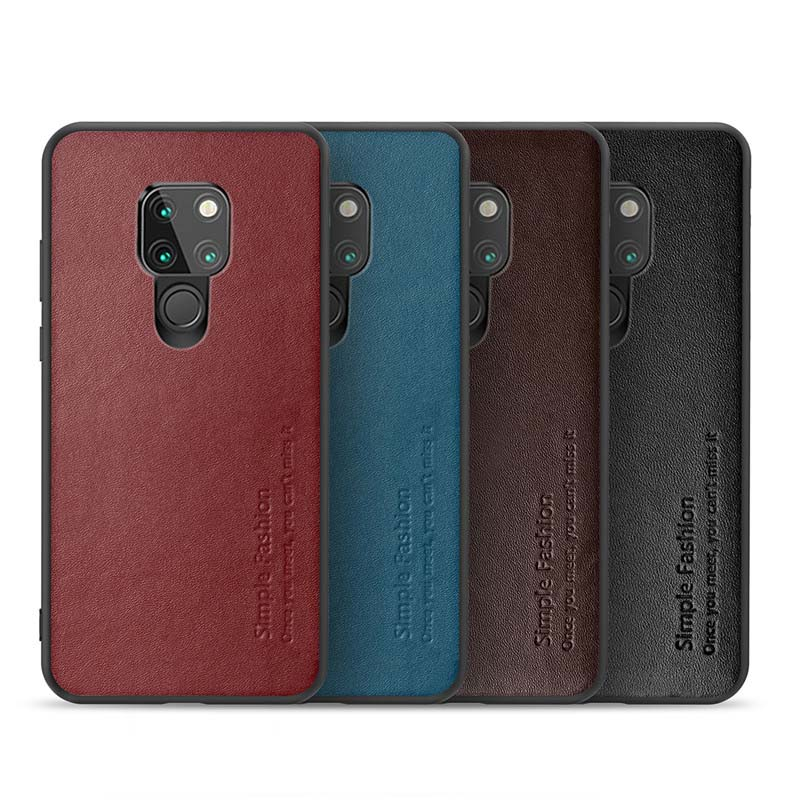 Original Real Cowhide Case Luxury Phone Case Genuine Leather TPU Slim Back Cover For Huawei Mate20 Mate20pro P30 P30Pro KS0327