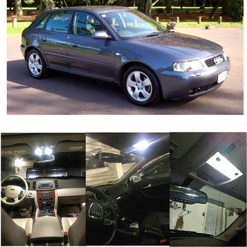 Juego completo de iluminación interior LED para coche, luz de lectura para puerta trasera, sin error, 13 unidades, para Audi A3 8L facelift 5
