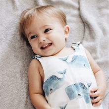 2020 Cute Newborn Baby Boy Girl Sleeve Whale Print Cotton Romper Jumpsuit Playsuit Outfits Baby Clothes(China)