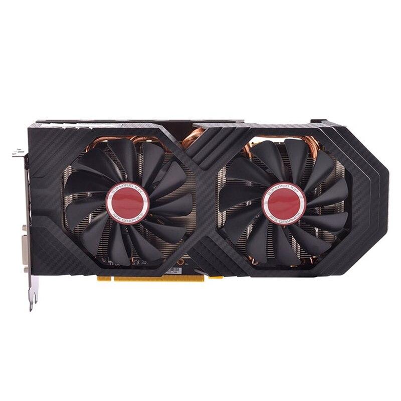 Оригинальные видеокарты XFX RX 580 4 Гб AMD Radeon RX580 4 Гб экран графические карты GPU для настольного ПК Компьютерная игровая карта не для майнинга б/у-2