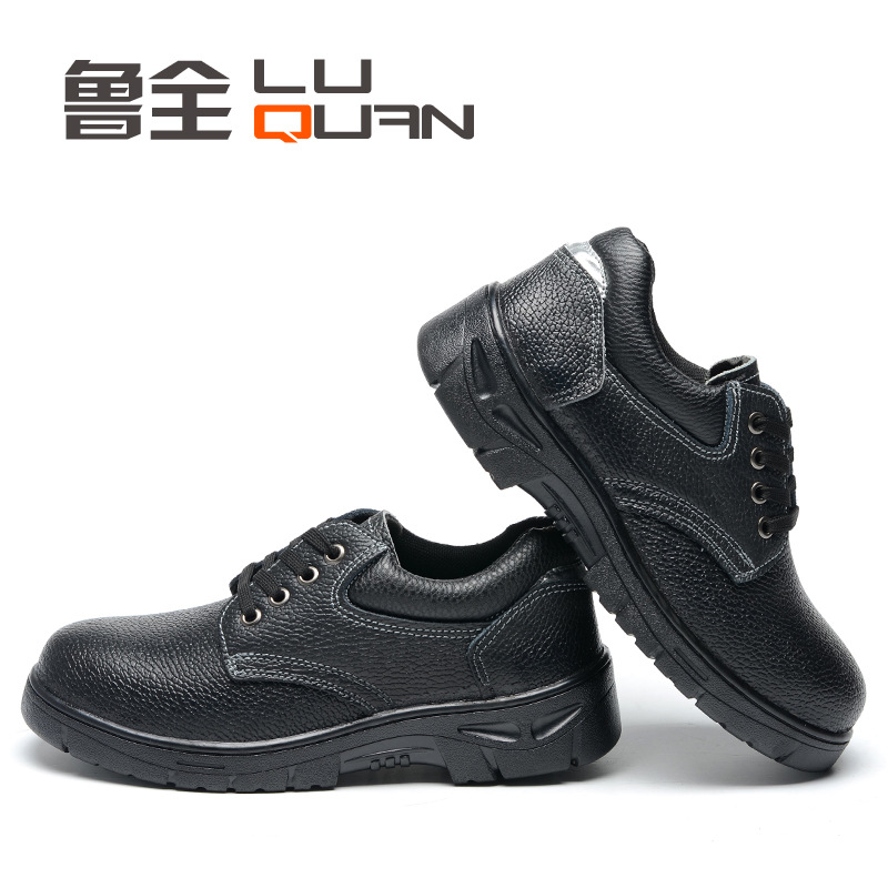 Summer Breathable Genuine Leather Safety Shoes Safe Smashing Stab-Resistant Acid And Alkali Resistant