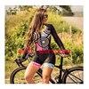 20 cores das mulheres longo mangas compridas skinssuit go pro equipe de ciclismo macacão pro equipe irmã triathlon roadbike mtb roupas verão macaquinho ciclismo feminino manga longa roupas com frete gratis macacao 11