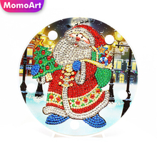 MomoArt Christmas Diamond Painting LED Lamp Light Special Shaped 5D Unfinished Embroidery Santa Claus DIY Craft Kit