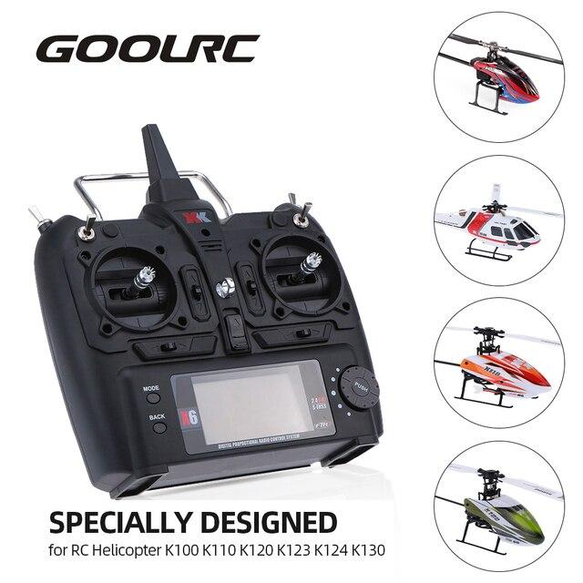 2019 novo em estoque 2.4g 6ch controle remoto transmissor para rc helicóptero wltoys xk x6 k100 k110 k120 k123 k124 k130