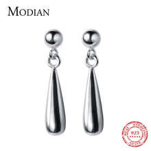 Modian Real 100 925 Sterling Silver Swing Drop Water Drop Earrings for Women Sterling Silver Fashion Dangle Earrings Jewelry cheap NONE 925 Sterling Party MOCOG0237 Office career