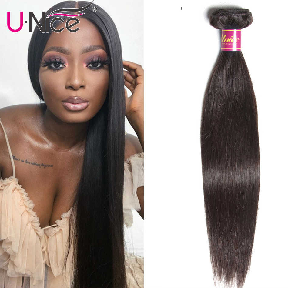 Unice Hair Malaysian Straight Hair Bundles 8-30inch 100% Human Hair Extension Natural Color 1Bundles Straight Remy Human Hair
