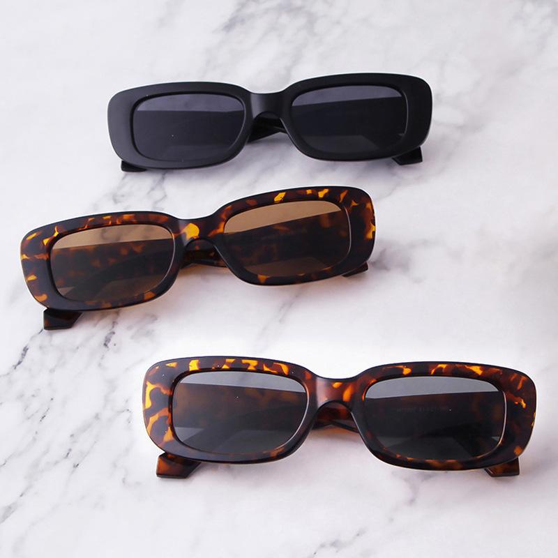 Vintage Square Sunglasses Women Fashion Brand Designer Sun Glasses Female Retro Black Small Frame Rectangle Oculos De Sol