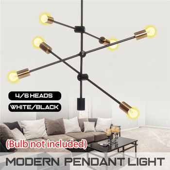 LED Chandelier Lighting E27 Fixtures Lustre Vintage Led Lamp 4/6 heads Industrial Living Room Modern Night Lamp AC110-240
