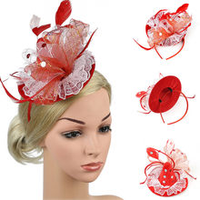 Women's Hat Strap Feather Party Hat Hair Clip Headband AccessoryHair Accessories Hair Tie Rubber Band Hair Ring Elastic 2020(China)