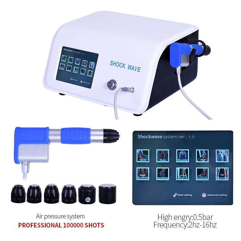 Haute Qualité! Onde de choc Portable ESWT traiter les articulations douleur et traitement Machine à ondes de choc ED dysfonctionnement érectile