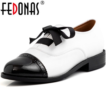 FEDONAS Classic Concise Butterfly Knot Shallow Women Spring Summer Mixed Colors Genuine Leather Pumps Casual Office Shoes Woman