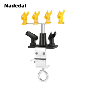 Image 2 - Professional Airbrush Holder Clamp on aerografo Stand Kit 6 Mount Spray Gun Tabletop Bench Station for Airbrush 360Degree