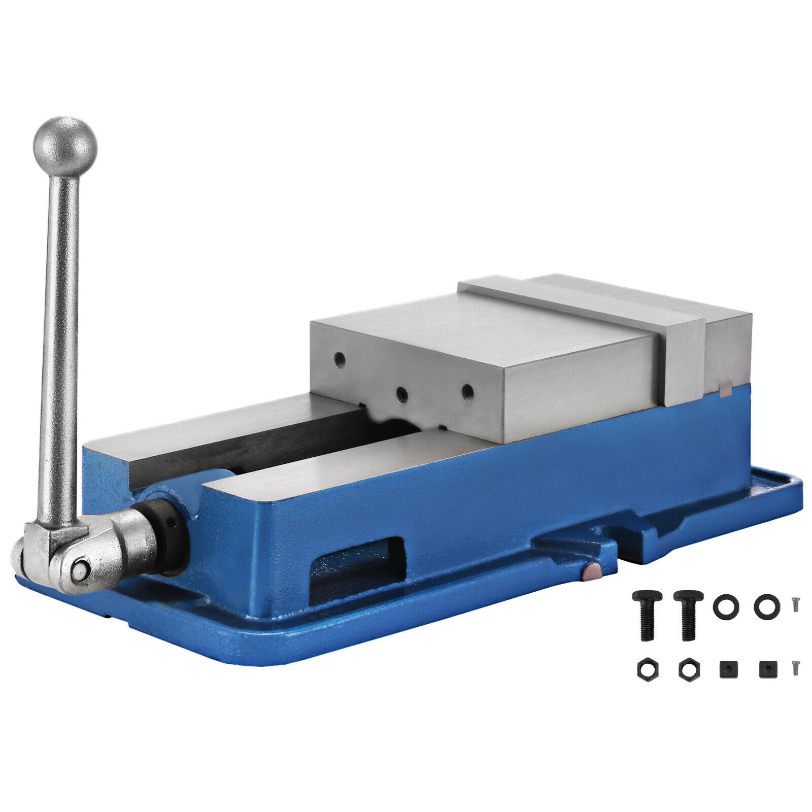 6 Inch ACCU Lock Down Vise Precision Milling Vice Jaw Width Drill Press Vise Milling Drilling Machine Bench Clamp Clamping Vice