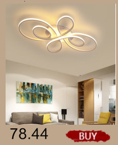 H022eb0281f0548e4a9f64cefd1e60f3dZ Creative modern led ceiling lights living room bedroom study balcony indoor lighting black white aluminum ceiling lamp fixture