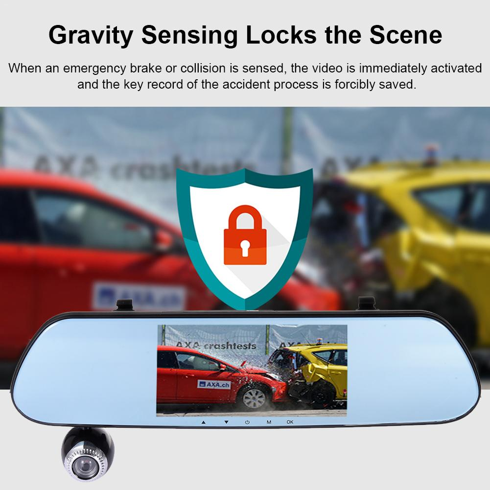 Dashboard-Camera Car-Driving-Recorder Loop-Recording Motion-Detection with 5inch Hd-Screen