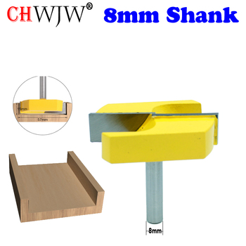 цена на CHWJW 1PC Cleaning Bottom Router Bits with 8mm Shank,2-3/16 Cutting Diameter for Surface Planing Router Bit